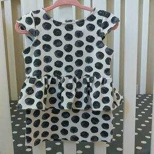 OshKosh B'Gosh 12M Polka Dot Peplum Dress